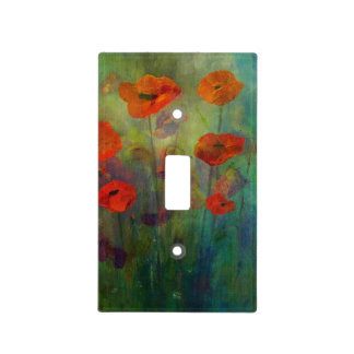 Poppies - Light Switch Cover