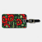 Poppies Luggage Tag