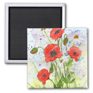 'Poppies' Magnet