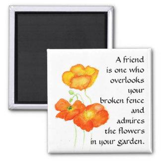 Poppies Magnet - Friendship