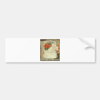 Poppies Memories and French Script Bumper Sticker