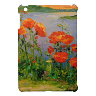 Poppies near the river case for the iPad mini