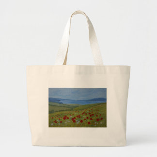 Poppies on the Coast Art on a Tote