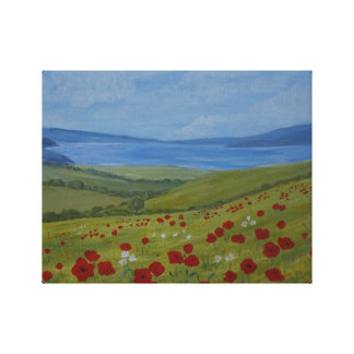 Poppies on the Coast Canvas Print