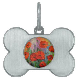 Poppies Pet Tag