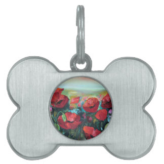 Poppies Pet Tags