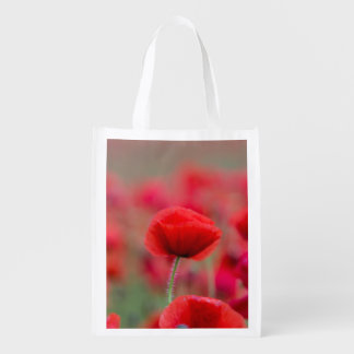 Poppies Reusable Bag Market Totes