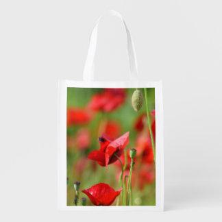 Poppies Reusable Grocery Bag