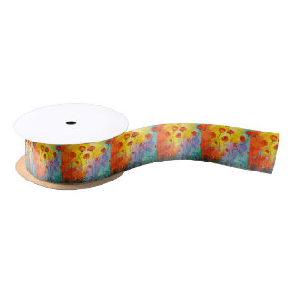 Poppies Satin Ribbon