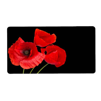 Poppies Shipping Label