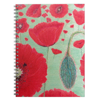 Poppies Spiral Note Books