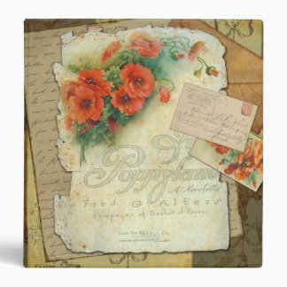 Poppies Victorian Style Binder Album Notebook