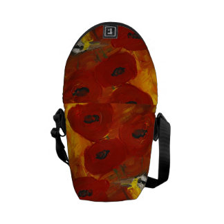 Poppies with Meadowlark Mini Messenger Bag