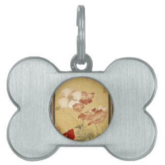 Poppies -  Yun Shouping (恽寿平) Pet Tag