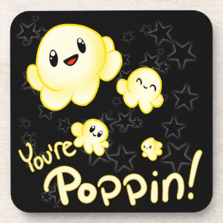 Poppin Popcorn Drink Coasters