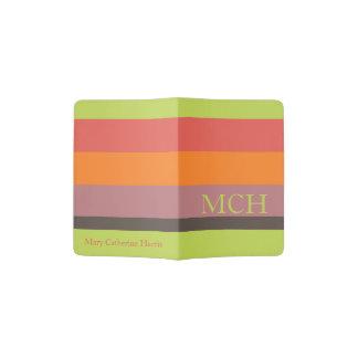 Popping Cupcakes Palette Stripe Monogram Passport Holder