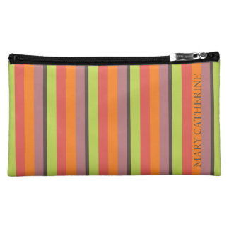 Popping Cupcakes Palette Stripe Personalized Cosmetic Bag