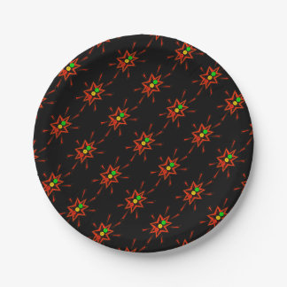 Popping Horizontal Moody Stoplight 7 Inch Paper Plate