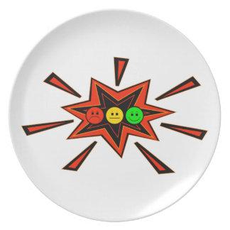 Popping Horizontal Moody Stoplight Party Plates