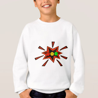 Popping Horizontal Moody Stoplight Sweatshirt
