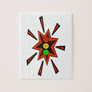 Popping Moody Stoplight Jigsaw Puzzle