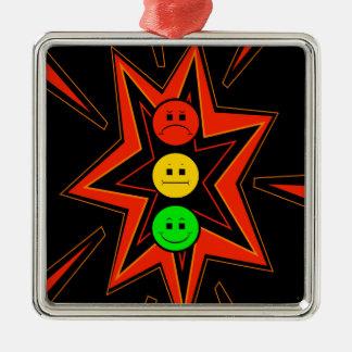 Popping Moody Stoplight Metal Ornament