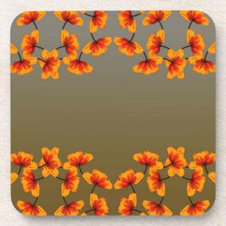 poppy4 pattern coaster