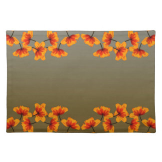 poppy4 pattern placemat