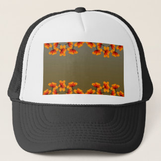 poppy4 pattern trucker hat