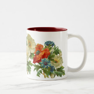 Poppy and Cornflowers Floral Art Mug