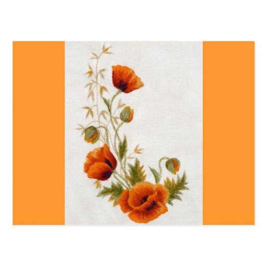 Poppy art postcard