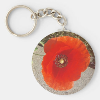 Poppy Basic Round Button Keychain
