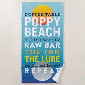 Poppy Beach Groundhog's Day Towel