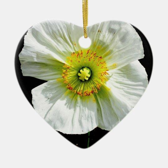 Poppy Ceramic Heart Ornament