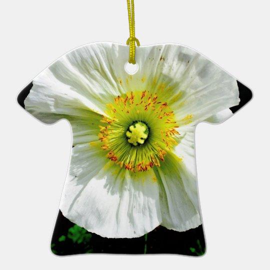 Poppy Ceramic T-Shirt Ornament