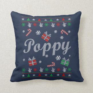 Poppy Christmas Throw Pillow