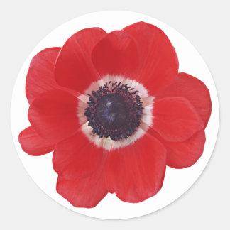Poppy Classic Round Sticker