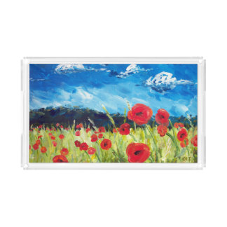 Poppy Clear Tray