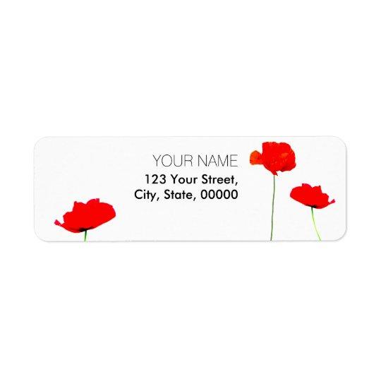 POPPY Collection 03 Return Address Labels