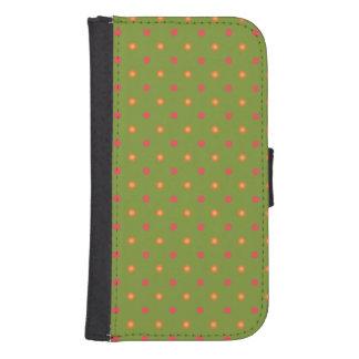 Poppy Colours Polka Dots, Wallet Smartphone Case Galaxy S4 Wallet Case