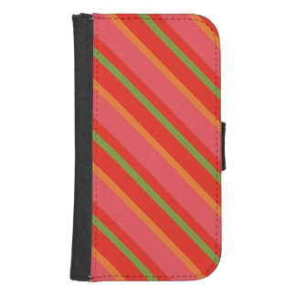 Poppy Colours Stripes Wallet and Phone Case Galaxy S4 Wallet Case
