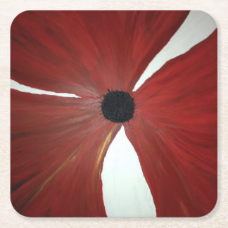 Poppy Custom Square Coasters
