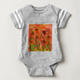 poppy day baby bodysuit