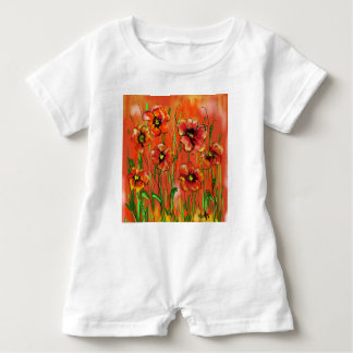 poppy day baby romper
