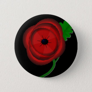 Poppy day - badge 2 inch round button
