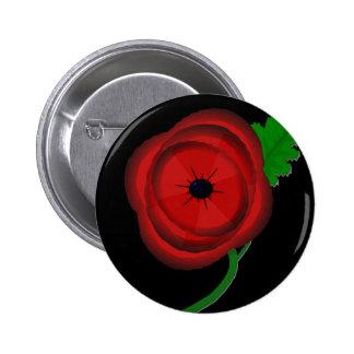 Poppy day - badge 2 inch round button