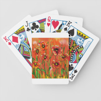 poppy day bicycle playing cards