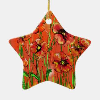 poppy day ceramic ornament