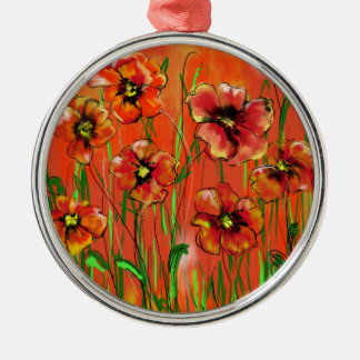 poppy day metal ornament