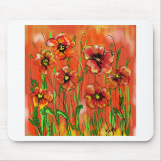 poppy day mouse pad